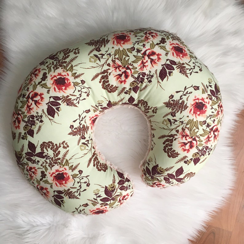 Floral Nursing Pillow / Floral Nursing Pillow Cover / Girl image 0