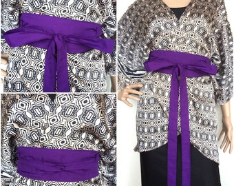 Organic Cotton Purple Wrap Belt