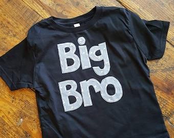 Big brother shirt, grey and black sibling shirt, big bro, hospital pictures,  sibling set