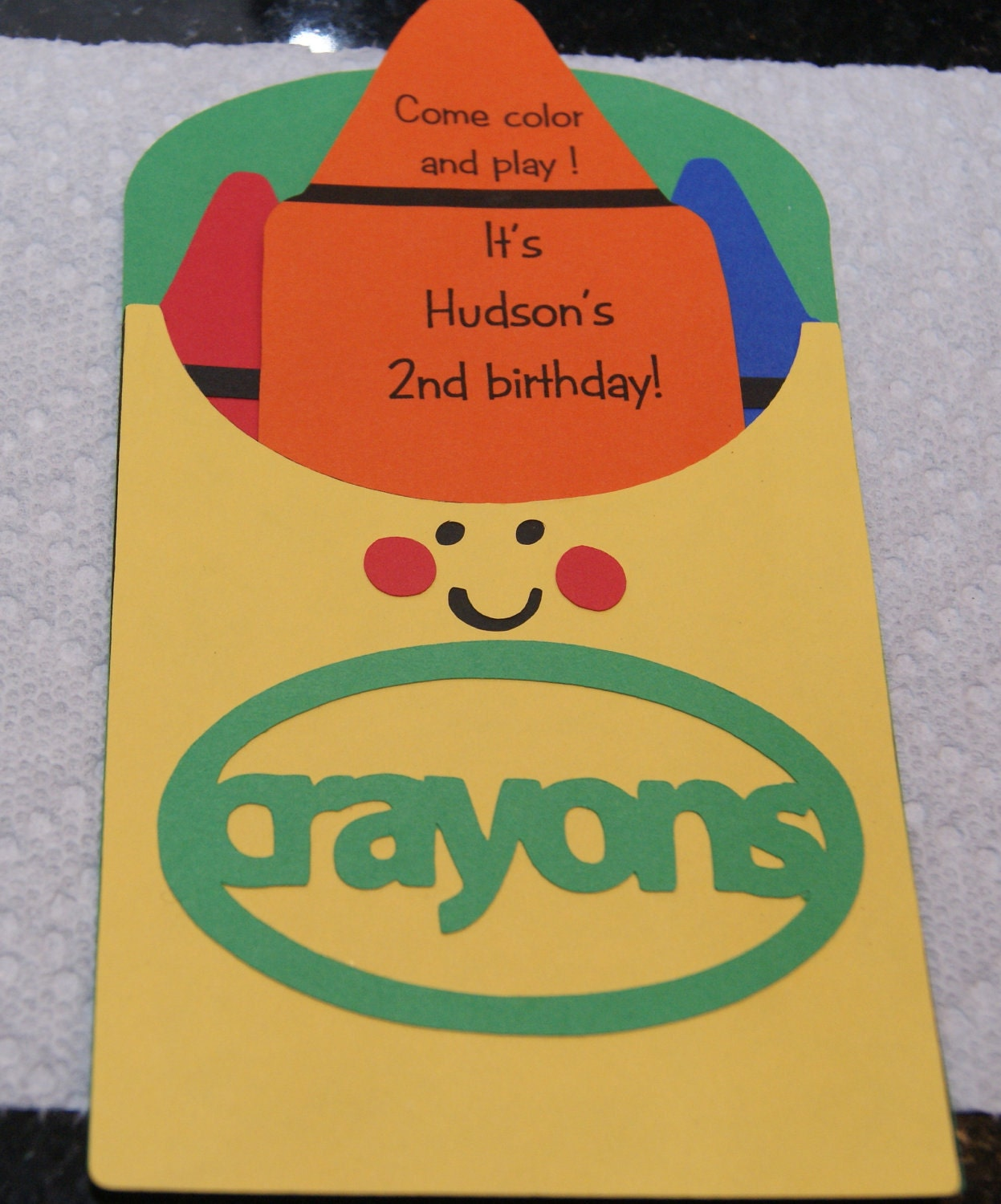Crayon Box Birthday Invitations Personalized Made To Order