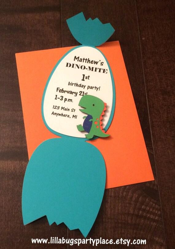 Dino Dinosaur Egg Personalized Birthday Invitation