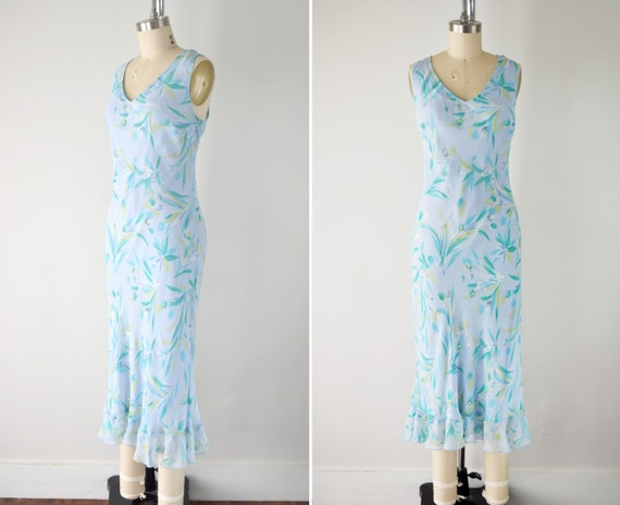 Vintage Silk Slip Dress Lg / Bias Cut Slip Dress L