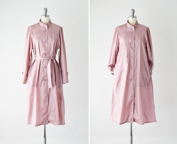 Dusty Rose Trench Coat Sm / Pink Trench Coat / Bel