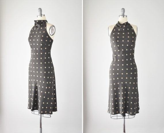 Silk Bias Midi Dress XS / Silk Halter Dress / Silk