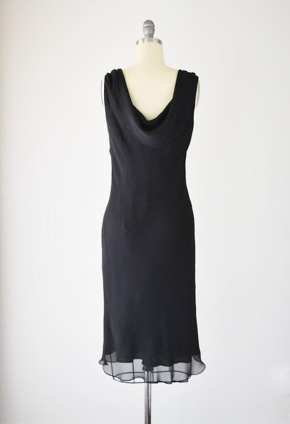 Black Silk Bias Dress Med / Silk Slip Dress / Bia… - image 4
