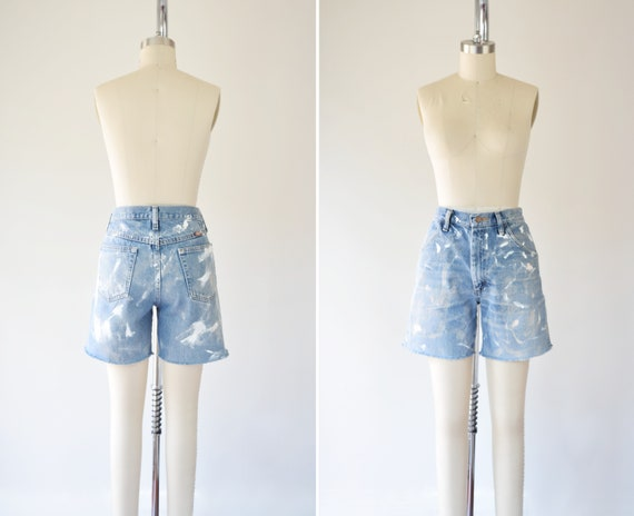 Paint Splatter Shorts L / 31 in Waist / Cutt Off J