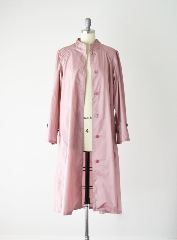 Dusty Rose Trench Coat Sm / Pink Trench Coat / Be… - image 9