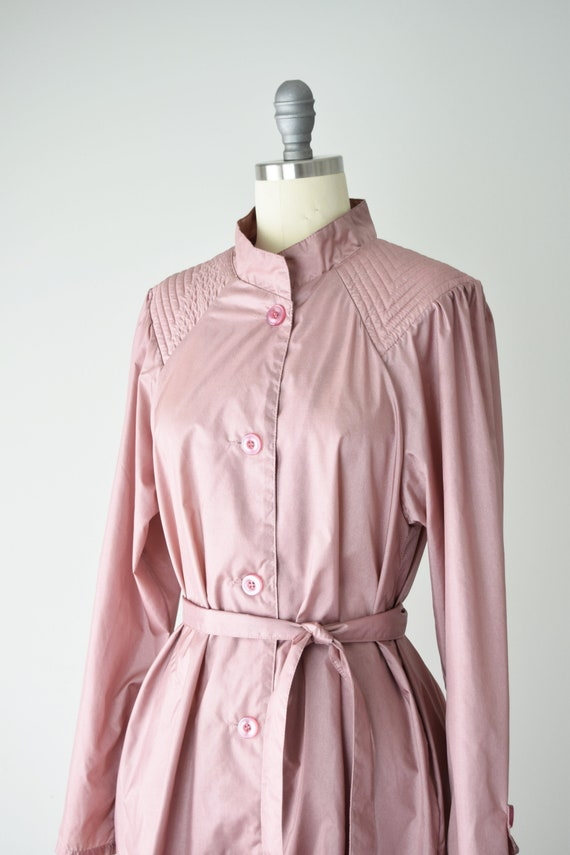 Dusty Rose Trench Coat Sm / Pink Trench Coat / Be… - image 2
