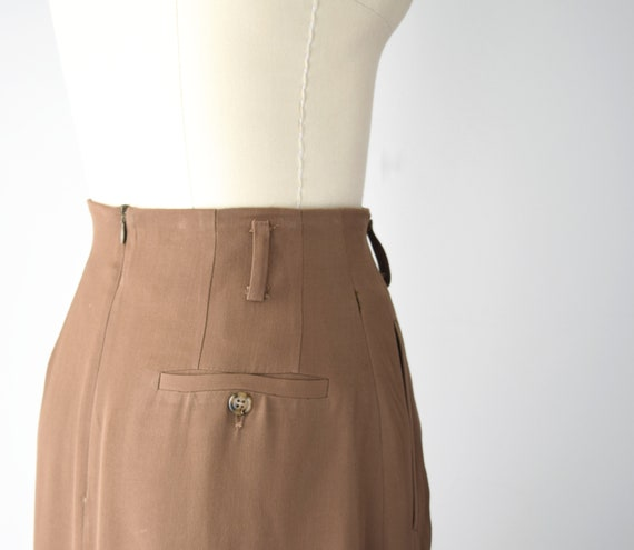 Camel Wool Blend Maxi Skirt Sm / Worsted Wool Max… - image 6