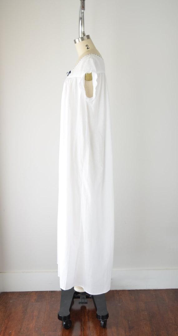 Vintage Cotton Nightgown Lg / White Cotton Nightg… - image 4