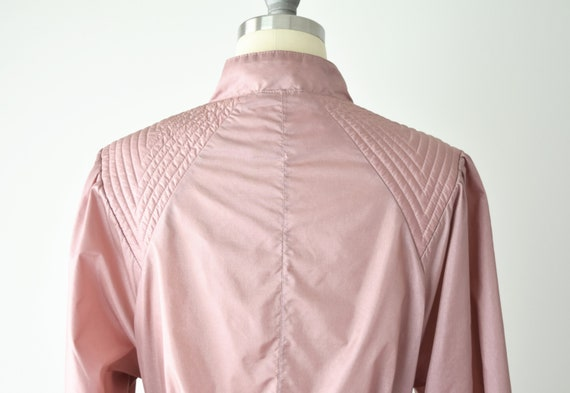 Dusty Rose Trench Coat Sm / Pink Trench Coat / Be… - image 7
