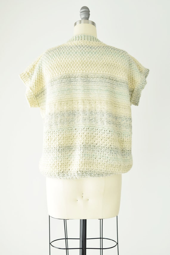 Pale Chunky Sweater Vest Med Lg/ Wool Sweater Ves… - image 6