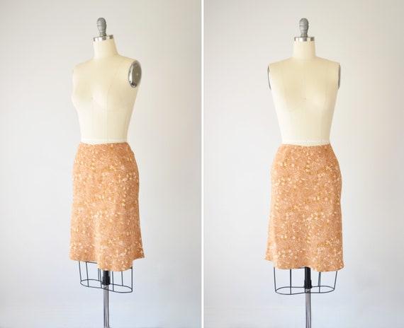 Y2K Silk Slip Skirt M / Bias Cut Skirt / Bias Slip