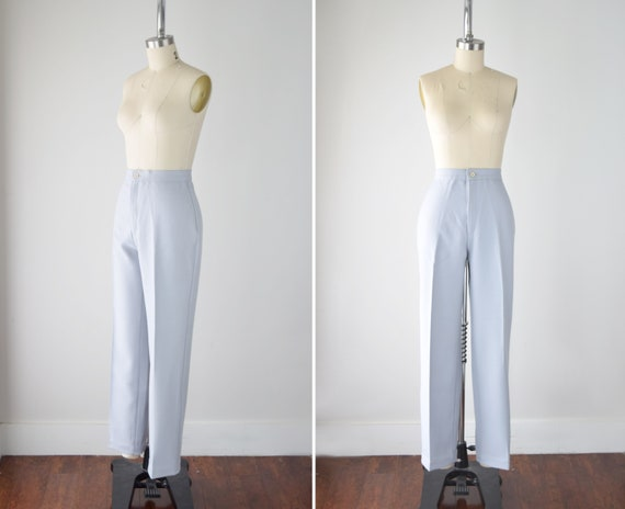 70s Levi's Bend Over Gray Knit Pants Sm / 27 Inch
