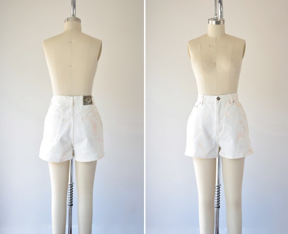 White High Waist Shorts 29 in / 29 Inch Waist Shor