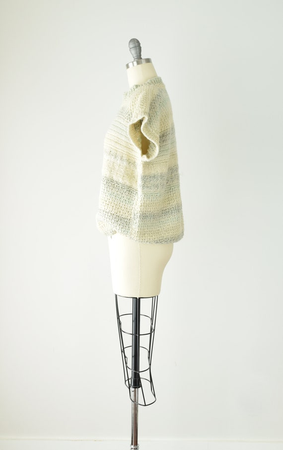 Pale Chunky Sweater Vest Med Lg/ Wool Sweater Ves… - image 4