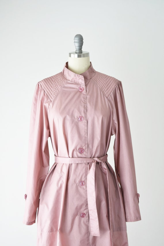 Dusty Rose Trench Coat Sm / Pink Trench Coat / Be… - image 8