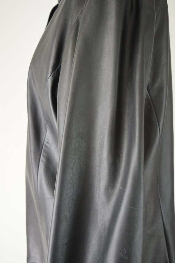 Leather Shirt Med / Relaxed Leather Shirt / Leath… - image 8