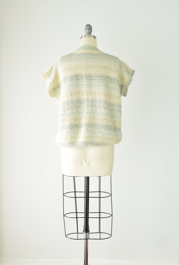 Pale Chunky Sweater Vest Med Lg/ Wool Sweater Ves… - image 5