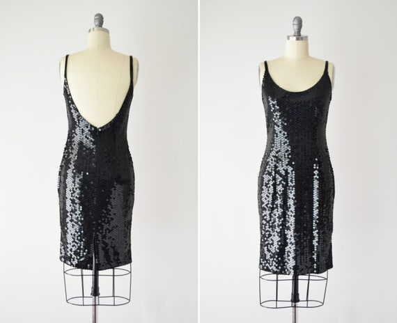 Oleg Cassini Minimal Sequin Dress S / Sequin Tank
