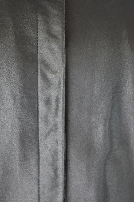 Leather Shirt Med / Relaxed Leather Shirt / Leath… - image 9