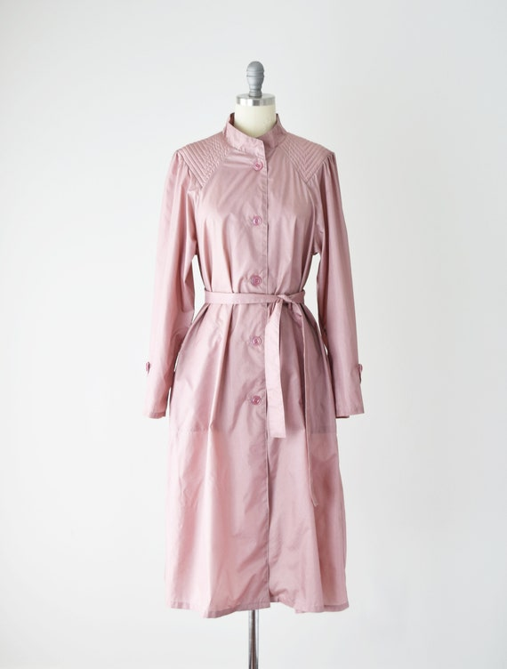 Dusty Rose Trench Coat Sm / Pink Trench Coat / Be… - image 3