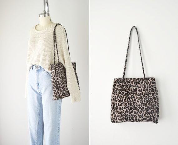 90s Leopard Purse / Leopard Shoulder Bag / Animal