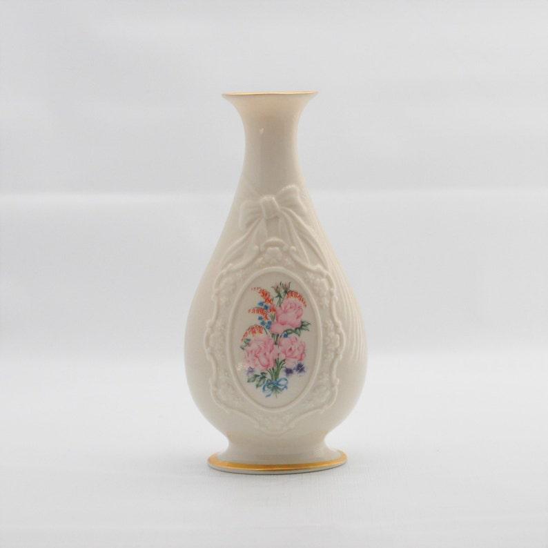 image 0 ... & Lenox The Flowers of Love Vase Ivory China Flower Bud Vase | Etsy