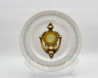 Avon Second Anniversary - The Avon Doorknocker - Decorator Plate - Collector Porcelain Plate - Wall Decor -
