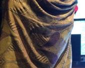 Nemesis Vintage Amber Brocade Paisly Pashmina Scarf Wrap