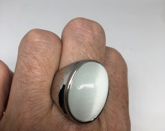 Most Beautiful 925K Sterling Silver Mens Ring With Blue Cat Eye Stone