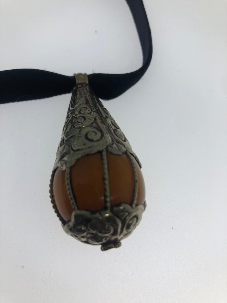 Vintage Tibetian Amber Pendant