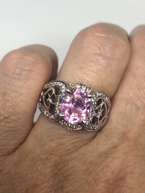 Vintage mixed Stone 925 Sterling Silver Cocktail Ring Size 11.25