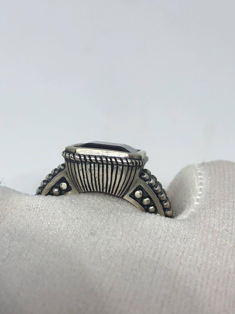 Vintage Smoky Topaz Ring 925 Sterling Silver
