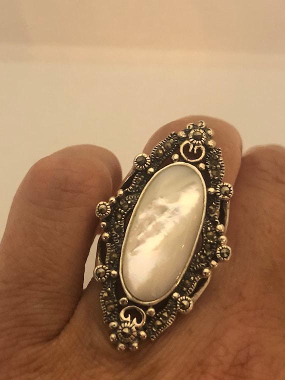 USA vendeur Marcasite ring sterling silver 925 Meilleur Prix Bijoux Cadeau Rose