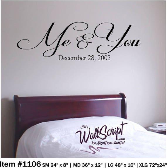 Ich und du, Wandtattoo Schlafzimmer, Schlafzimmer-Wand-Kunst, Wand-Grafik,  inspirierende Wandtattoo