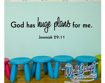 Sunday School Wall Art, God has Huge Plans for me, Church wall sticker decor