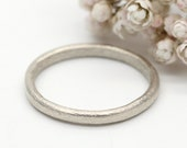 Oval court style wedding ring 9ct white gold by Tamara Gomez Hand made in London UK Custom made ring