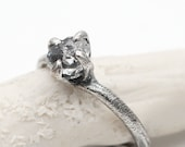 SALE - Herkimer diamond ring in sterling silver by Tamara Gomez