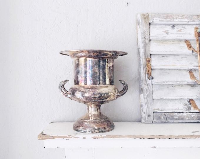 Vintage Silver Urn // Garden Decor