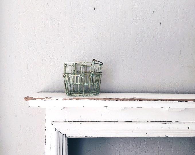 Vintage Wire Basket // Industrial Storage