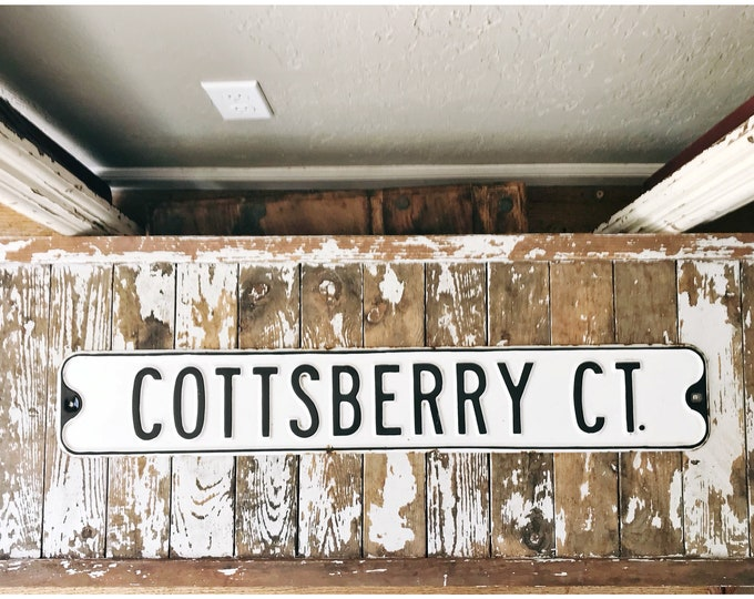 Vintage Industrial Street Sign // Cottsberry Court