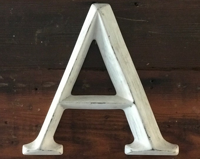 Vintage Letter A Sign // Industrial Display