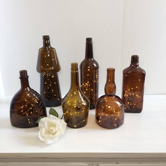 Liquor Bottle Centerpieces: Items Similar To Liquor Bottle Lights, Table Centerpiece