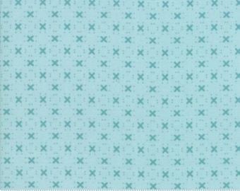Nest, Robin's Egg Birdy Hop by Lella Boutique of Moda Fabric, 5065 15, New Collection, Sold by 1/2 Yard