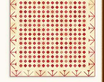 """On The Plus Side NEW Pattern by Minick & Simpson of Moda Fabrics, 84""""x84"""", MS1707, Features New Fabric, Farmhouse Reds"""