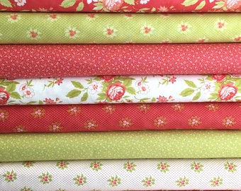 Ella & Ollie Fabric Bundle of 8 from New Collection from Fig Tree of Moda Fabrics, In Select A Size