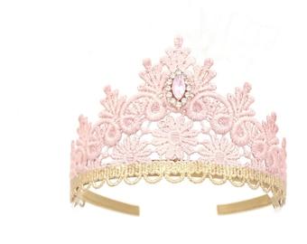 NEW Tallulah lace tiara blush + rose gold || princess crown || birthday tiara || Love Crush Exclusive