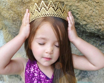 U N I S E X Paxton REMASTERED full size lace crown    toddler-adult sizes    photography prop