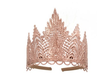 Ready to Ship || Sevyn  lace tiara || fits young ladies + women || several color options